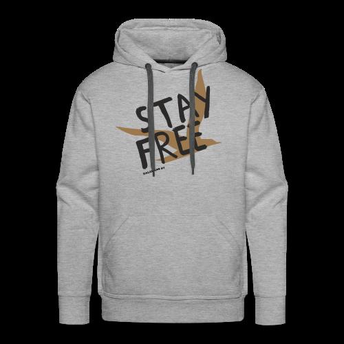 Stay Free Gold Bird Men's Hoodie - Men's Premium Hoodie