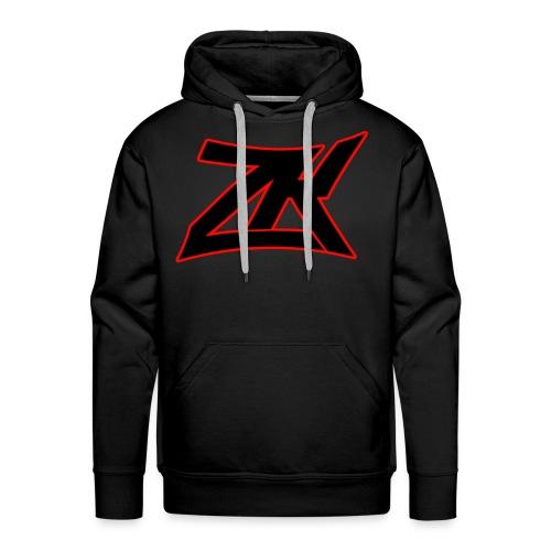 Black Men's RED ZK Logo Hoodie - Men's Premium Hoodie