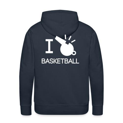 I referee basketball - Men's Premium Hoodie