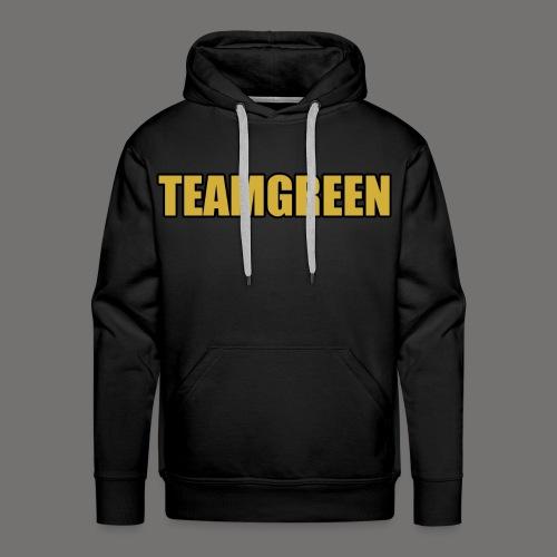 Greenish Hoodie TeamGreen Gold (Mens) - Men's Premium Hoodie