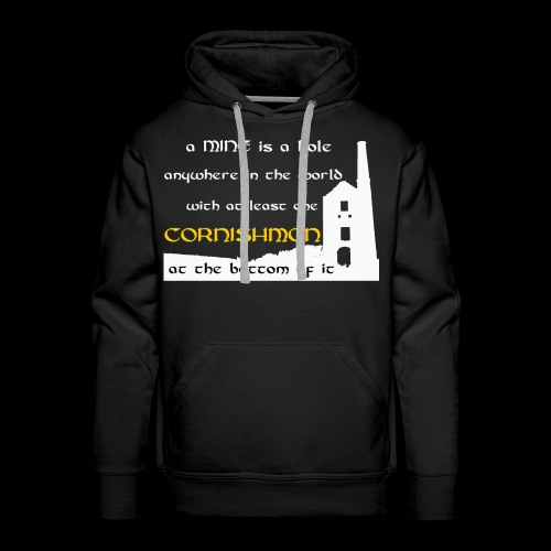 A mine is a hole - Men's Premium Hoodie