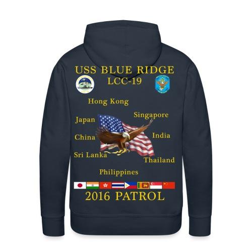 USS BLUE RIDGE LCC-19 2016 SPRING PATROL HOODIE - Men's Premium Hoodie