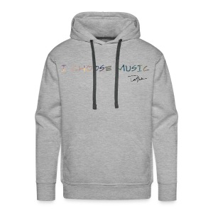 Men's I Choose Music Colorful Hoodie - Men's Premium Hoodie