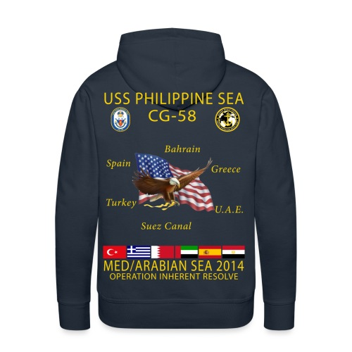 USS PHILIPPINE SEA CG-58 2014 CRUISE HOODIE - Men's Premium Hoodie