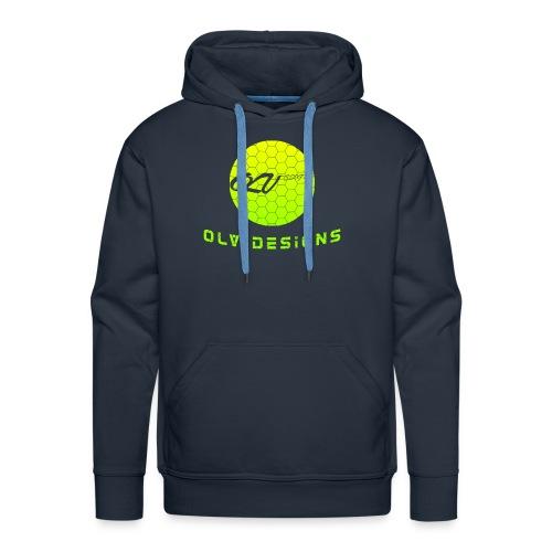 OLVDesigns Logo Hoodie - YLW ON NVY - Men's Premium Hoodie
