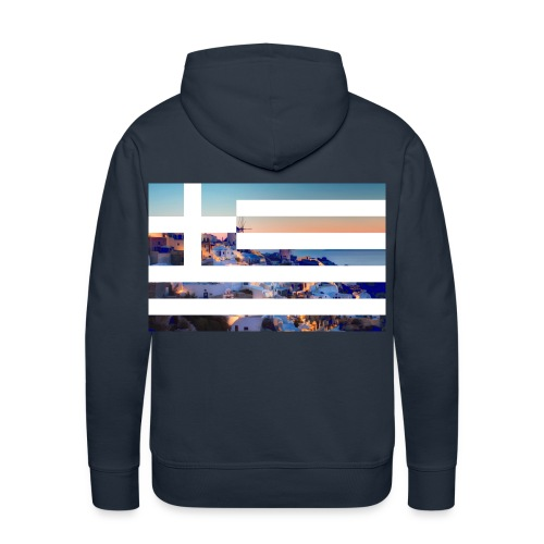 Santorini ft. Greece flag Sweatshirt - Men's Premium Hoodie