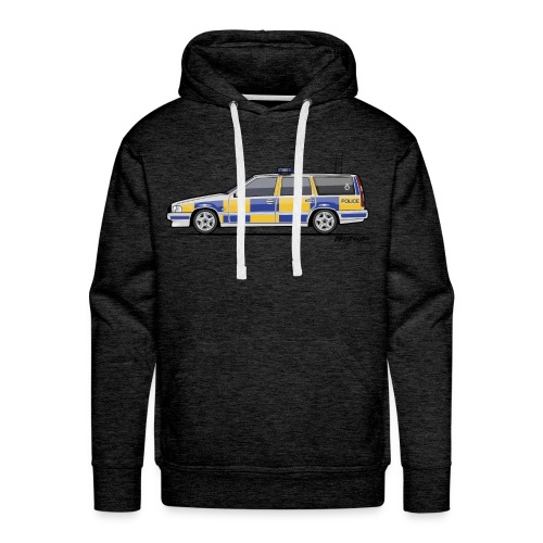 V70 T5 P80 UK Police Wagon - Men's Premium Hoodie