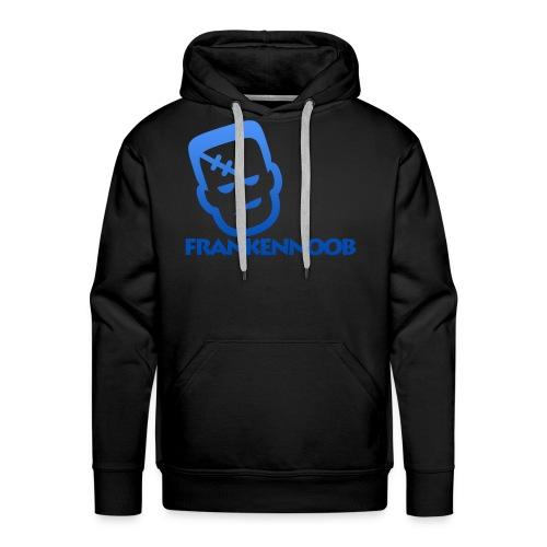 FrankenNoob Hoodie Blue Logo - Men's Premium Hoodie