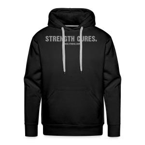 Strength Cures. [M] Premium Hoodie With Bell on back - Men's Premium Hoodie