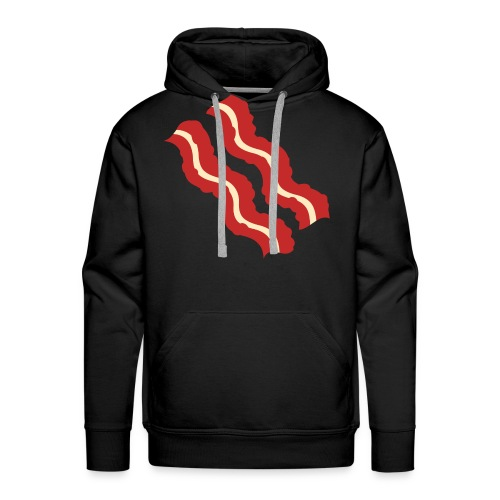 Bacon Strips Sweatshirt Black - Men's Premium Hoodie