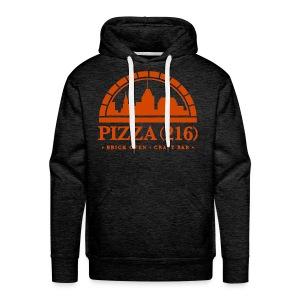 Pizza (216) Hoodie Orange Logo - Men's Premium Hoodie