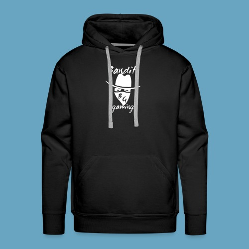 BanditGaming Black hoody with 'I'm an Outlaw!!' on the back - Men's Premium Hoodie
