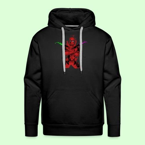 The Deadpool Splash (Men's Hoodie - Black) - Men's Premium Hoodie