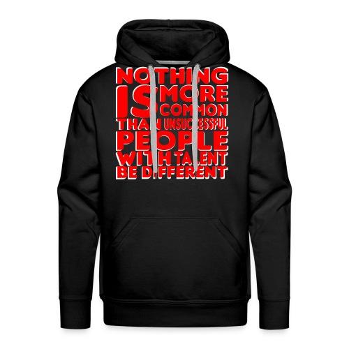 Be Different Hoodie (black/red) - Men's Premium Hoodie