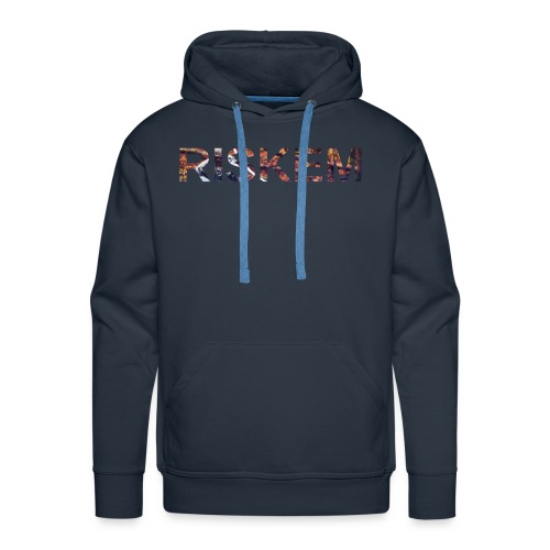 "Riskem with Back Designed ""Carry me Nerd"" - Men's Premium Hoodie"