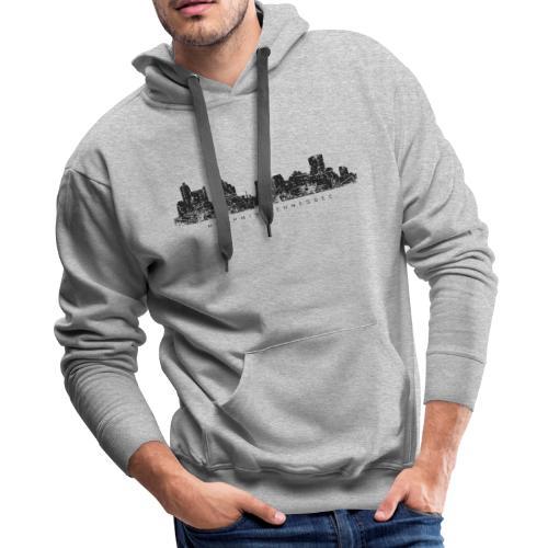 Memphis, Tennessee Skyline Hoodie (Men/Gray) - Men's Premium Hoodie