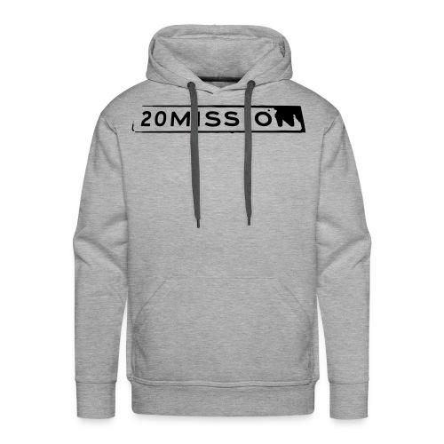 Grey pullover hoodie - Men's Premium Hoodie