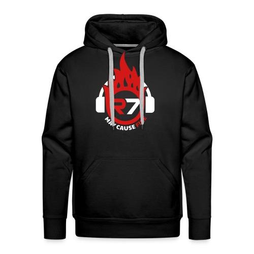 May Cause Fire Men's Hoodie (Black) - Men's Premium Hoodie