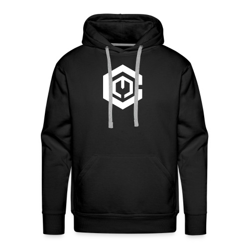 White Logo // Hoodie - Men's Premium Hoodie