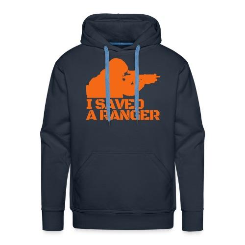 I Saved A Ranger - Hoodie Adult Black/Orange - Men's Premium Hoodie