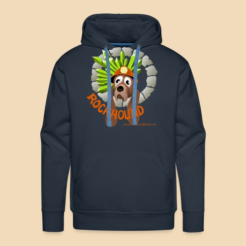 rockhound men's navy blue hoodie - Men's Premium Hoodie