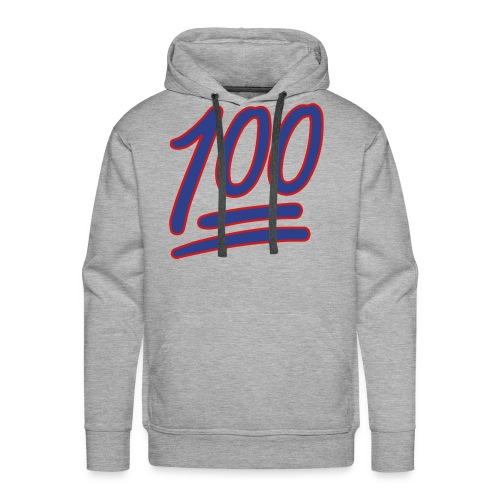 Mens Keep It 100 Hoodie (Light Gray) - Men's Premium Hoodie
