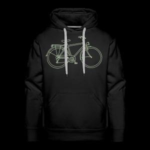 Bicycle (glows in the dark) - Men's Premium Hoodie