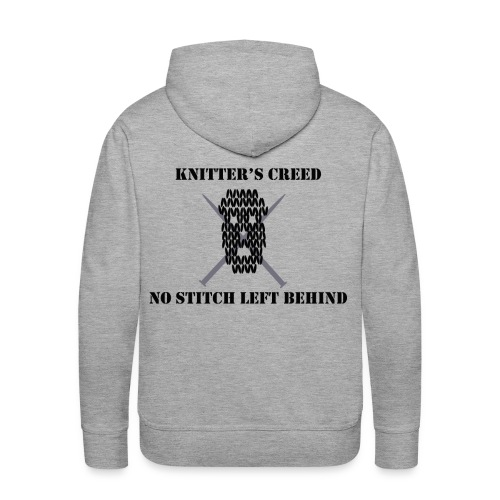 Knitter's Creed - Men's Premium Hoodie