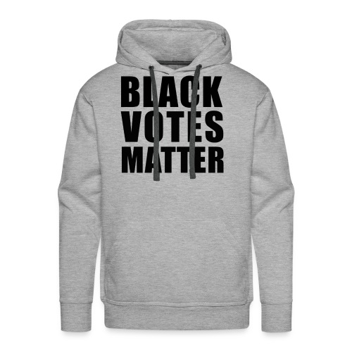 Black Votes Matter - Men's Heather Hoodie | Front Design Only - Men's Premium Hoodie