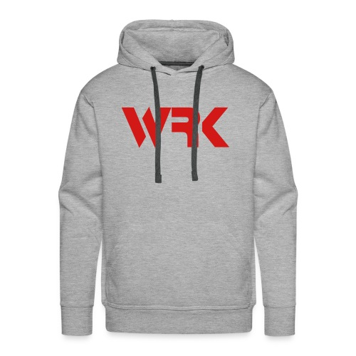 Red WRK - All Gray Hoodie - Molleton à capuche Premium pour homme