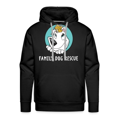 Family Dog Rescue (Dog + Human = Family on Back): Men's Hoodie - Men's Premium Hoodie