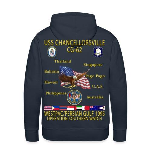 USS CHANCELLORSVILLE CG-62 1995 CRUISE HOODIE - Men's Premium Hoodie