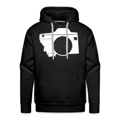 Men's White Montana Camera Hoodie - Men's Premium Hoodie