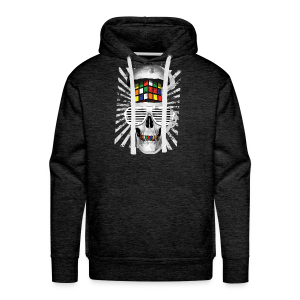 Rubik's Cube Skull With Sunglasses - Men's Premium Hoodie