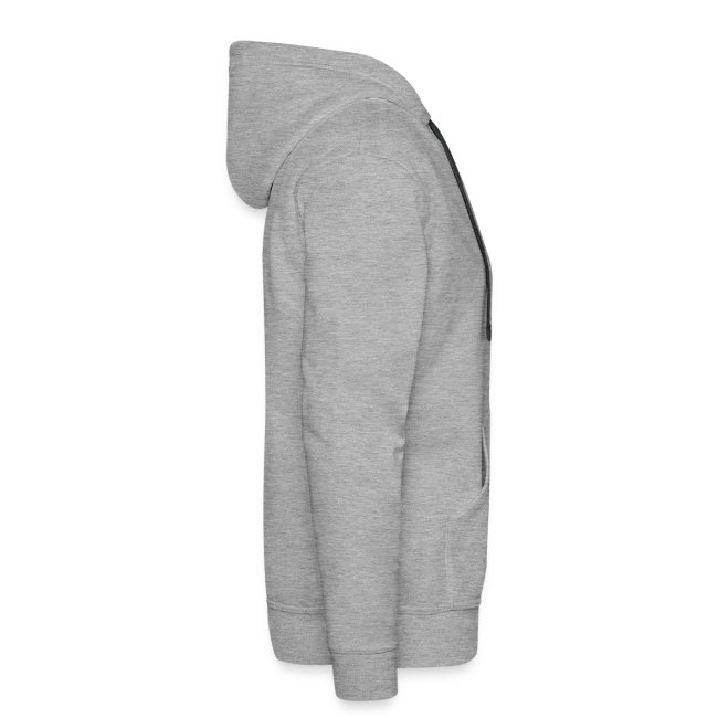 Jersey Devil Men's Premium Hoodie Grey: Striper, Back Only