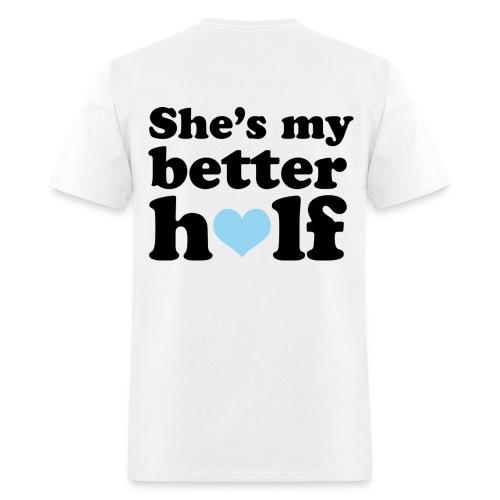 Boyfriend/Girlfriend shirts half a heart - Men's T-Shirt