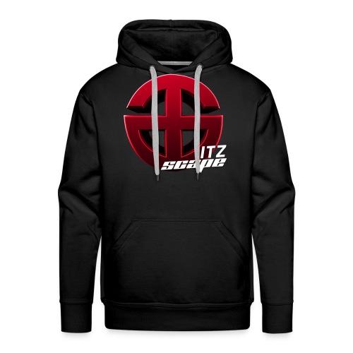 "ItzScape Black Hoodie ""Logo Design"" - Men's Premium Hoodie"