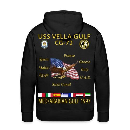 USS VELLA GULF CG-72 1997 CRUISE SHIRT HOODIE - Men's Premium Hoodie