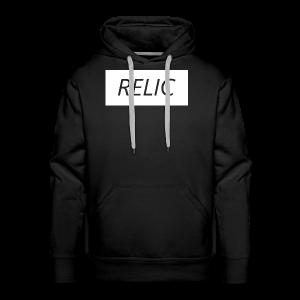 Relic Box Logo White  Sweatshirt - Men's Premium Hoodie