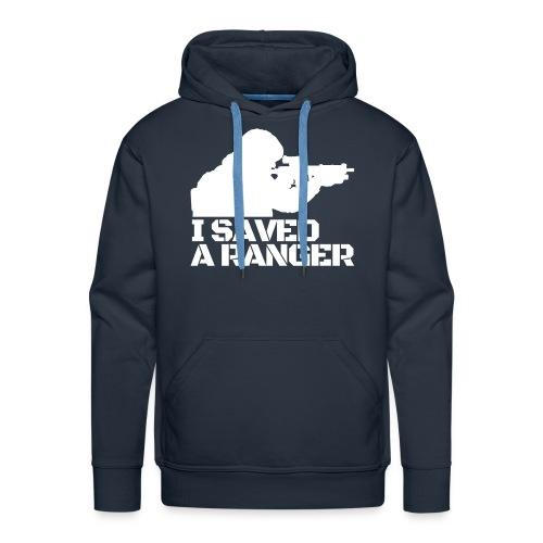 I Saved A Ranger Hoodie -  Black/White - Men's Premium Hoodie