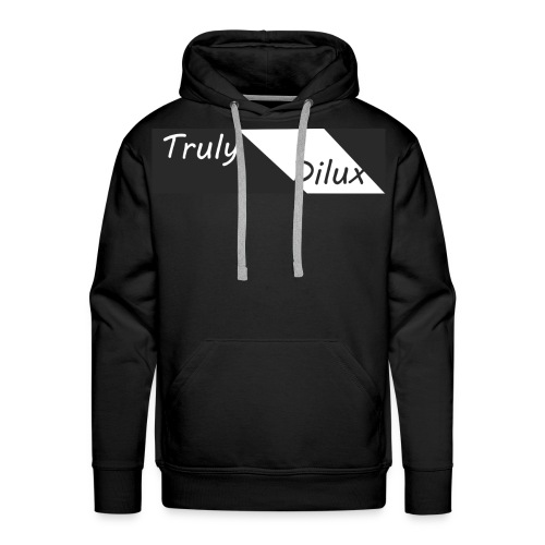 Mens Original Black Truly Dilux Sweatshirt - Men's Premium Hoodie