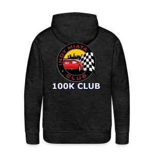 Men's Premium 100K Hoodie logo on back - Men's Premium Hoodie