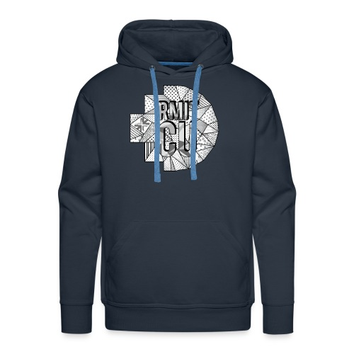 RMITCU Navy Hoodie (Greyscale Logo) - Men's Premium Hoodie