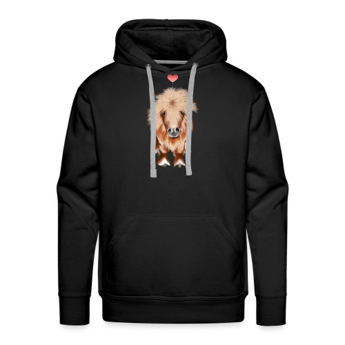 PONY-with a heart - Men's Premium Hoodie