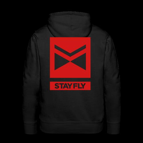 Stay Fly Premium Hoodie - triple print - Men's Premium Hoodie
