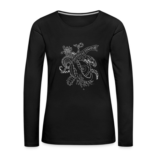 Fantasy scribblesirii black - Women's Premium Long Sleeve T-Shirt