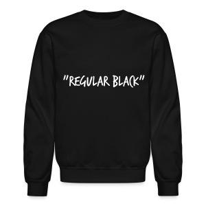 Regular Black Crew Neck Sweatshirt - Crewneck Sweatshirt