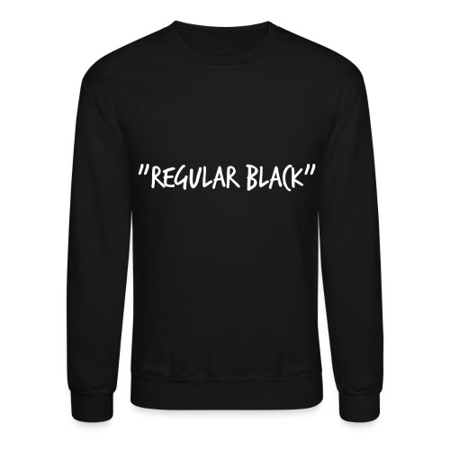 Regular Black Crew Neck Sweatshirt - Crewneck Sweatshirt