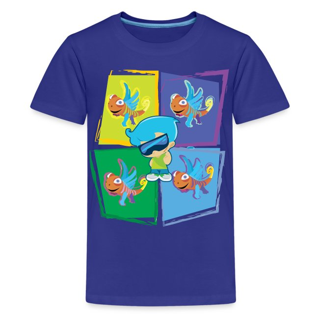 Cool Chase w/ Clarence 2 (Kids Premium Shirt)