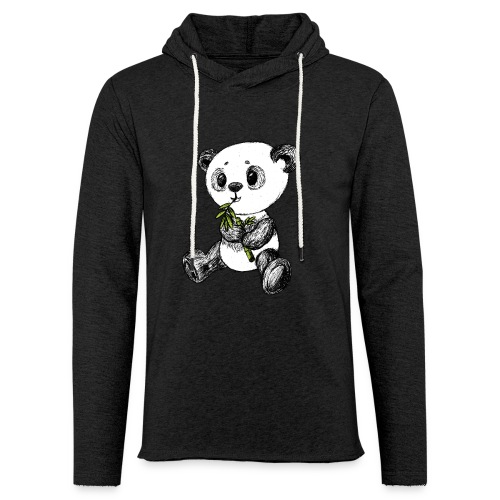 Panda Bear scribblesirii - Unisex Lightweight Terry Hoodie